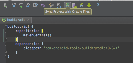 Sync gradle config files